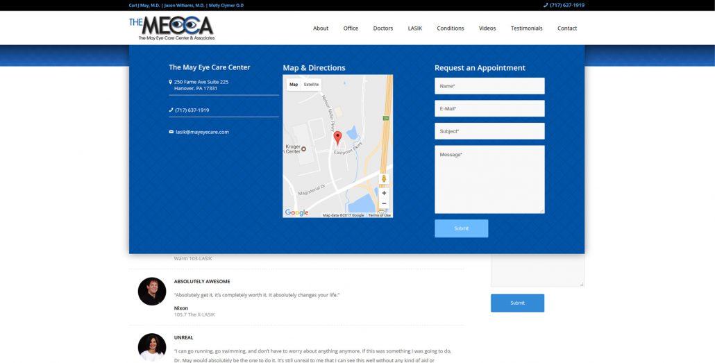 LASIK website design